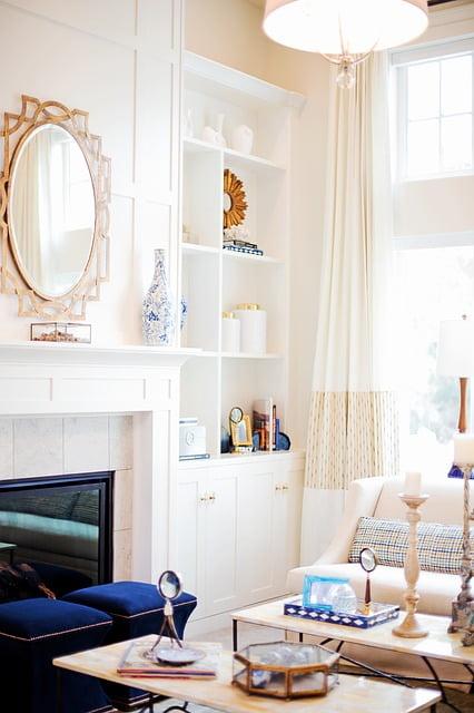 Big mirror in living room