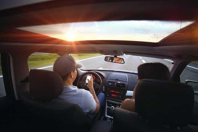 Women taking driving Lesson
