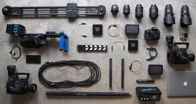 camera gear and equipment image