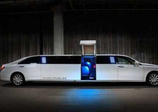 White Limousine Car