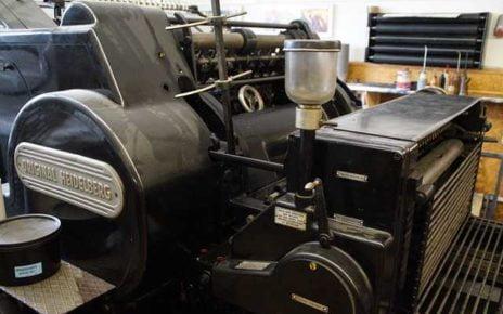 Manchester Printing machine