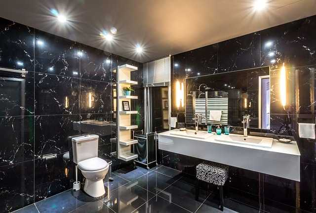 Bathroom with lighting