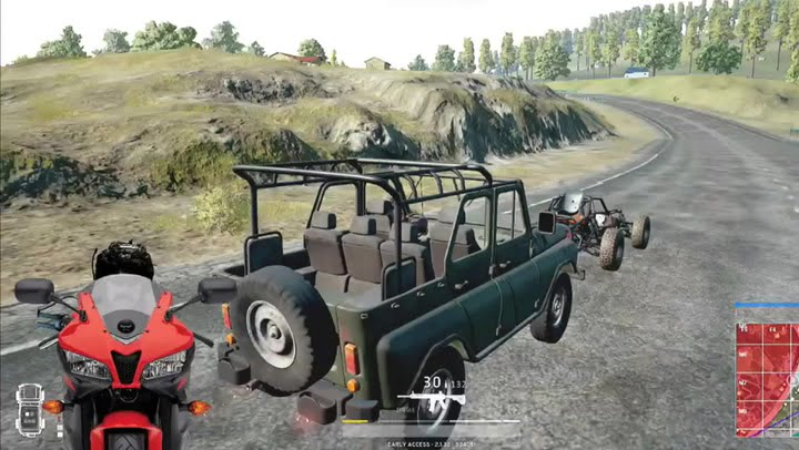Vehicles which are available in PUBG