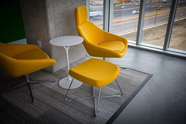 Colourful Details and Recycled Office Furniture